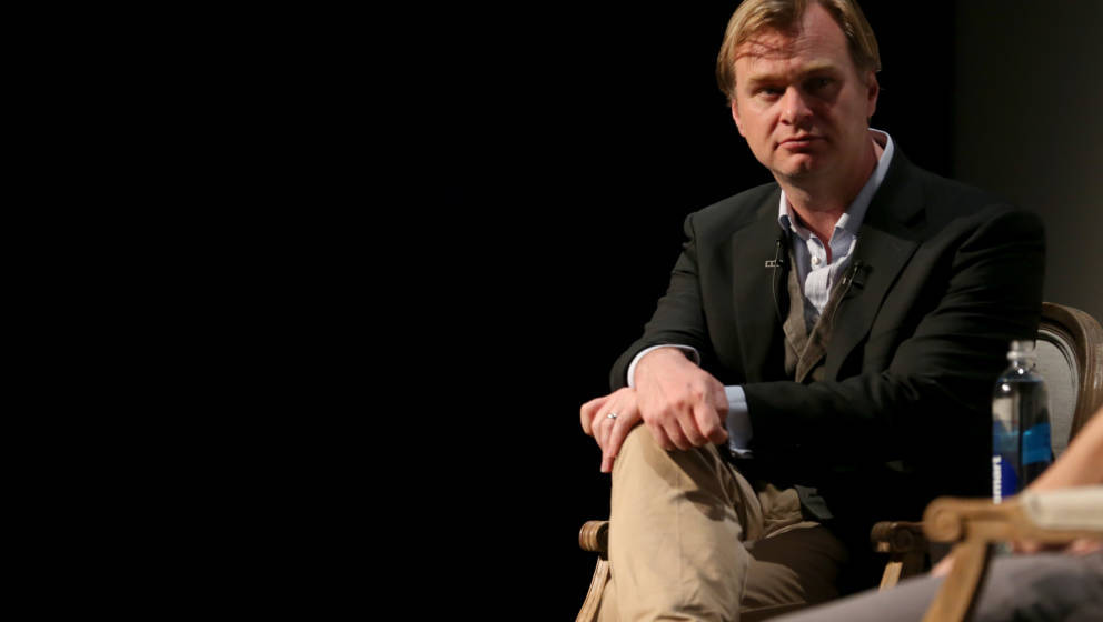 Christopher Nolan in einer Talk-Show.