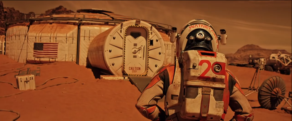 """In """"Der Marsianer - Rettet Mark Watney"""": Mark Watney, gespielt von Matt Damon, wurde nach einer Mars-Mission auf dem Planeten vergessen."""