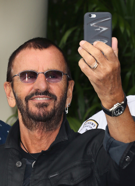 attends Ringo Starr's 75th birthday fan gathering at Capitol Records on July 7, 2015 in Hollywood, California.