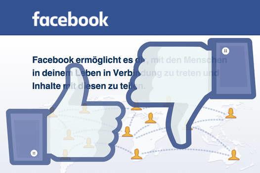 """Lange Zeit wehrte sich Facebook gegen ein """"Gefällt mir nicht"""""""