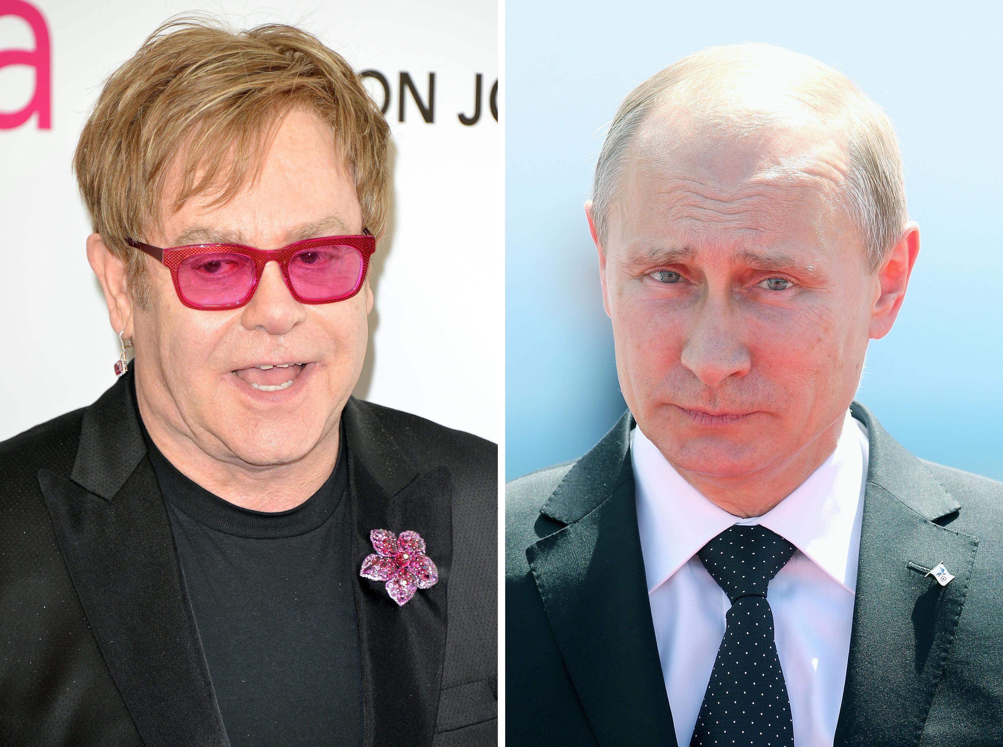 Elton John will immer noch mit Wladimir Putin sprechen