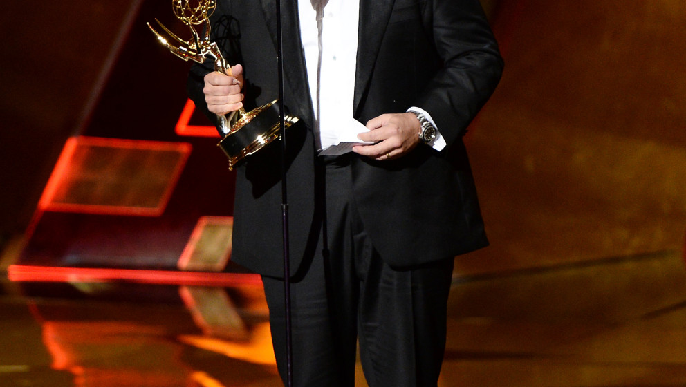 Image #: 39558076    Game of Thrones' director David Nutter accepts an award onstage during the 67th Primetime Emmy Awards in