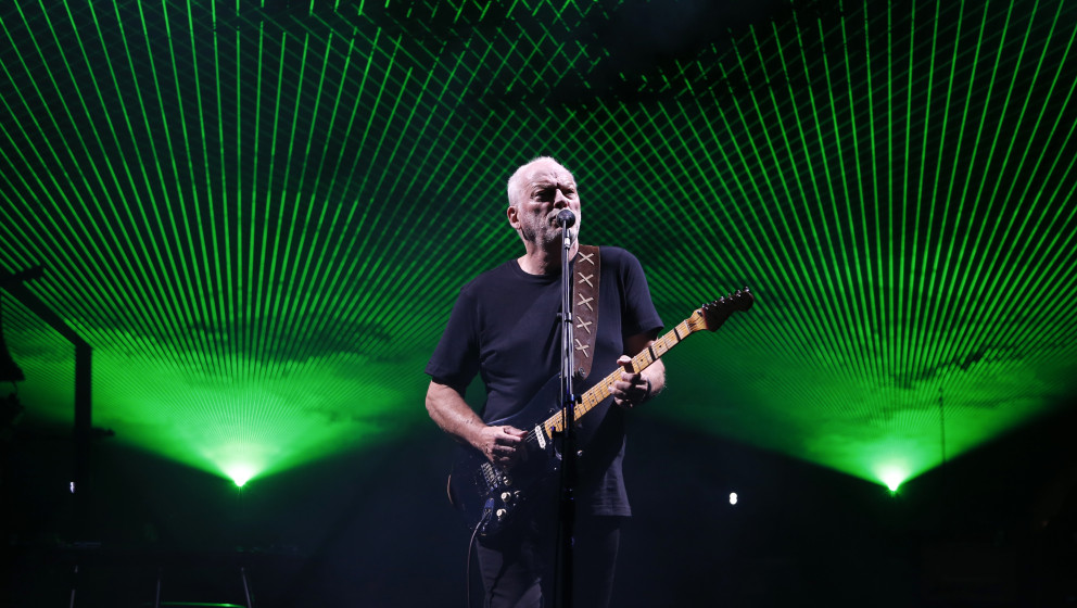 David Gilmour bei einem Konzert in England, September 2015.