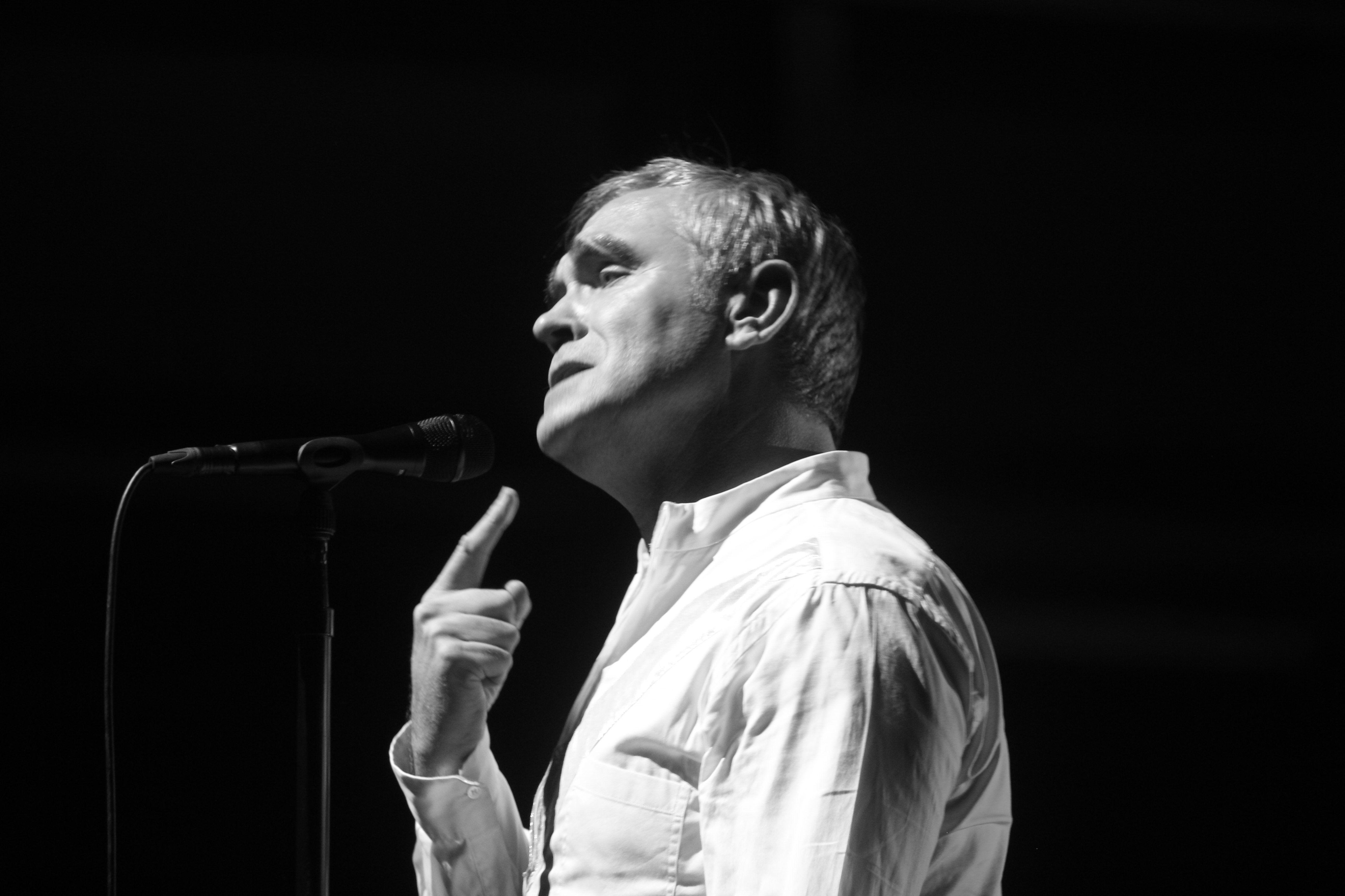 Morrissey live in Köln, 01.10.2015.