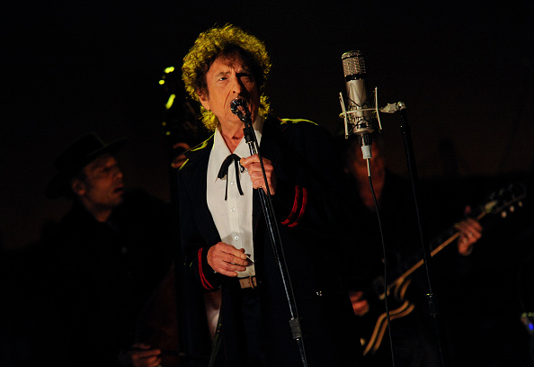 Musical guest Bob Dylan performs on the Late Show with David Letterman, Tuesday May 19, 2015 on the CBS Television Network. P
