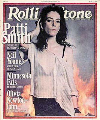 Patti Smith auf dem Rolling Stone im Juli 1978.
