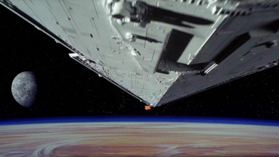 Die berühmte Anfangsszene aus Episode IV