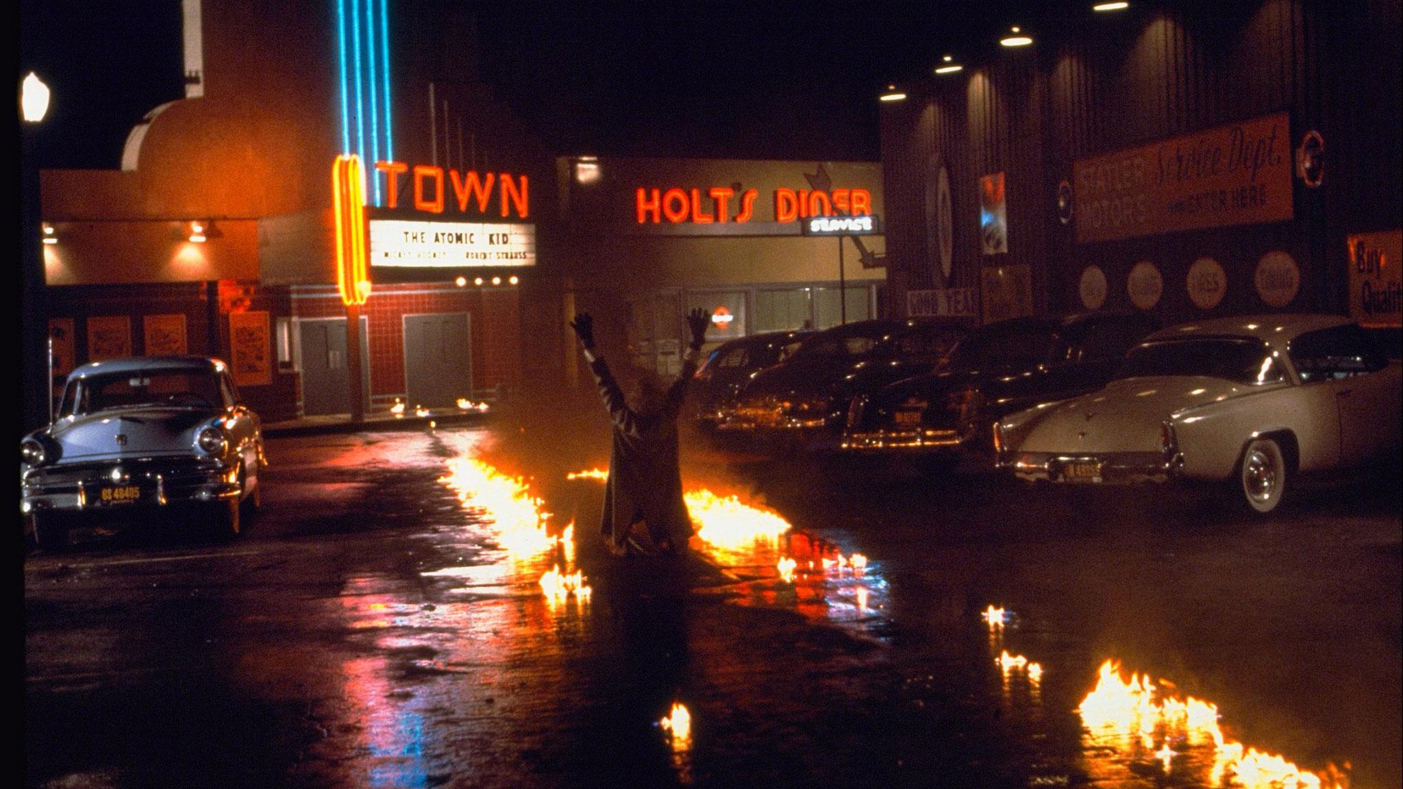 """""""Zurück in die Zukunft"""": Die Zeitreise der DeLorean ist geglückt."""