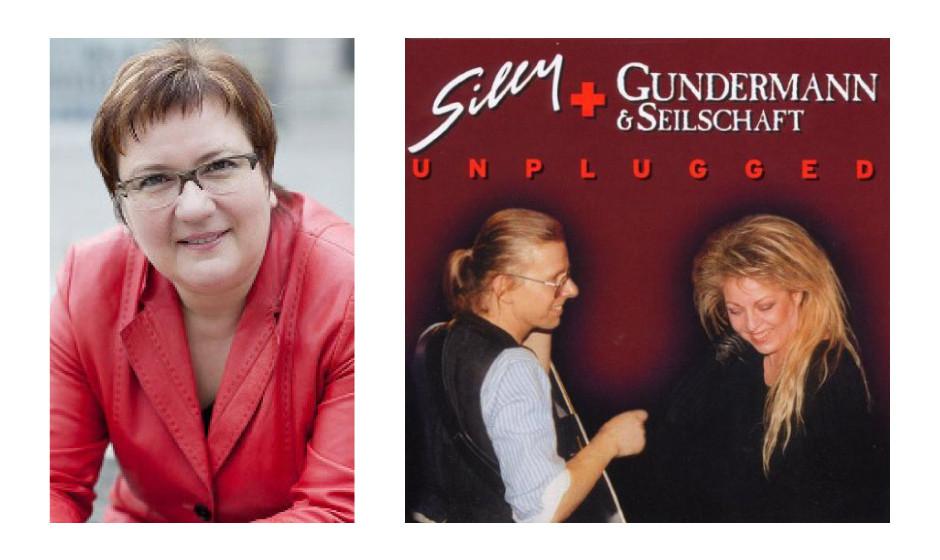 """Iris Gleicke (51) (SPD) Silly und Gundermann und Seilschaft – """"Unplugged"""" """"Ein zum Heulen schönes Livealbum. Da sind absolut herzzerreißende Stücke drauf wie 'So 'ne kleine Frau' und 'Gras'. Wenn ich das höre, muss ich daran denken, dass Tamara Danz und Gerhard Gundermann beide nicht alt geworden sind."""""""