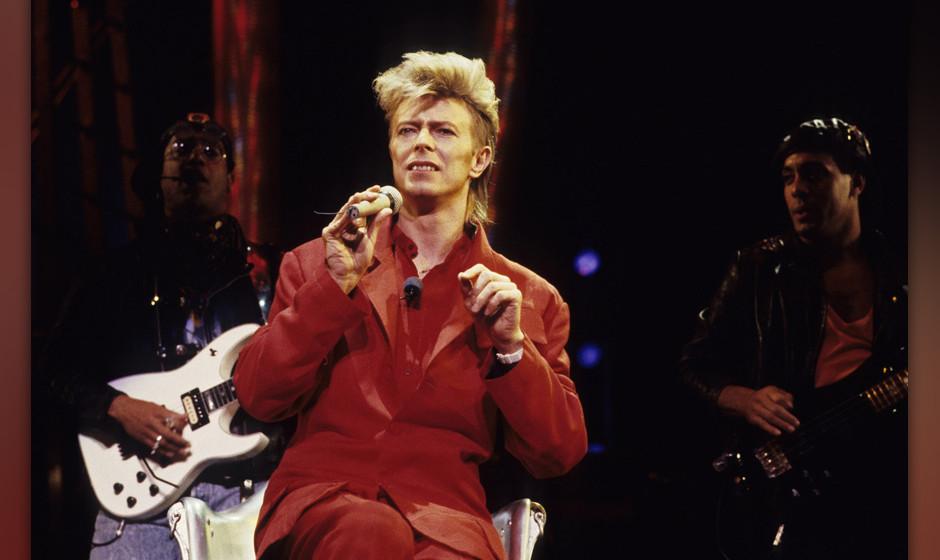 David Bowie bei einem Auftritt um 1987 in New York City.