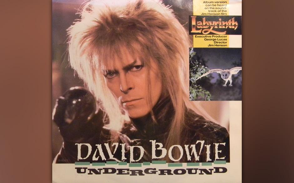 98. 'Underground'.   Wer sich über Bowie lustig machen will, landet früher oder später beim Puppenfilm des Muppet-Machers