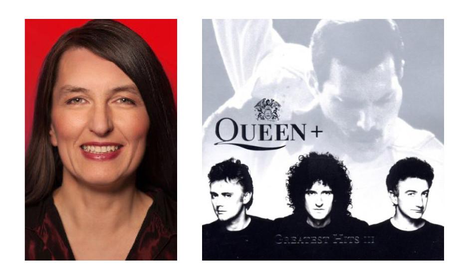 """Kirsten Lühmann (51) (SPD) Queen – """"Greatest Hits III"""" """"Es ist zwar etwas ruhiger, und ich liebe eher die rockigen Songs. Allerdings machen die Titel in Kooperation mit Elton John oder der großartigen Montserrat Caballé dieses Album wirklich zu etwas Besonderem."""""""