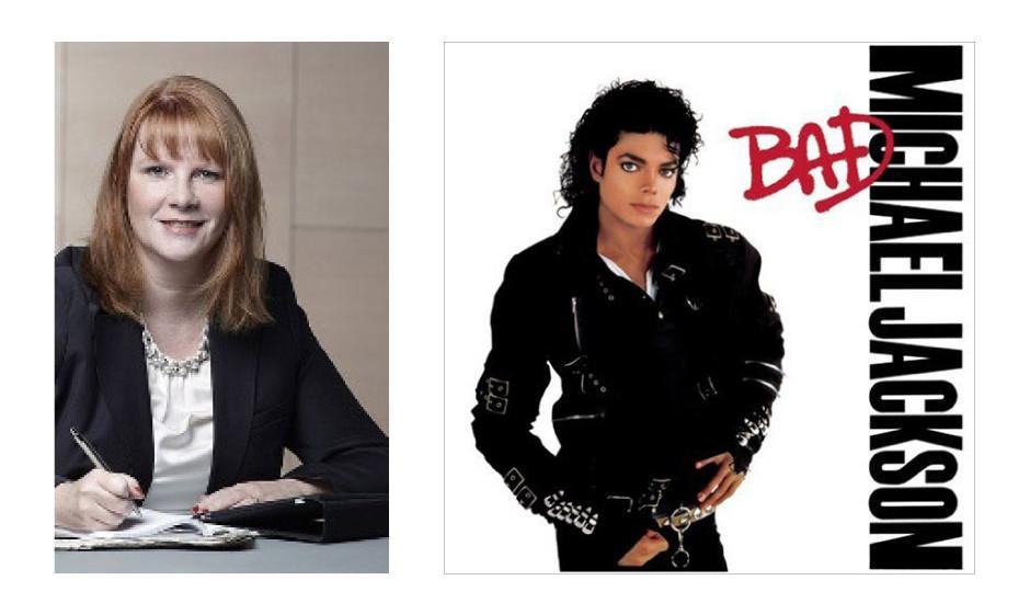 """Christina Schwarzer (41) (CDU) Michael Jackson – """"Bad"""" """"Meine 1. Musikkassette war 1987 'Bad' von Michael Jackson – die Lieder höre ich tatsächlich heute noch gern!"""""""