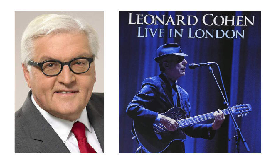 "Dr. Frank-Walter Steinmeier (59) (SPD) Leonard Cohen – ""Live in London"""
