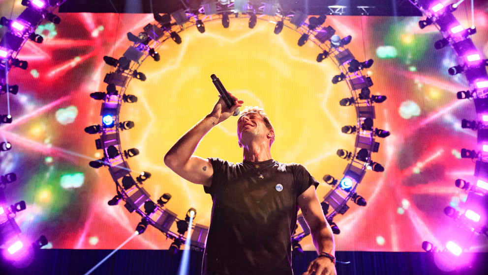 Coldplay live beim iHeartRadio Music Festival in Las Vegas, September 2015.