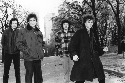 UNITED STATES - DECEMBER 16: Photo of REPLACEMENTS and Slim DUNLAP and Paul WESTERBERG and Chris MARS and Tommy STINSON; Posed group portrait in the street - Slim Dunlap, Paul Westerberg, Chris Mars and Tommy Stinson (Photo by Ebet Roberts/Redferns)