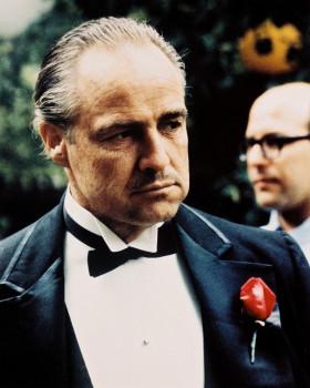 """Marlon Brando als Don Vito Corleone in""""Der Pate"""" 1972."""
