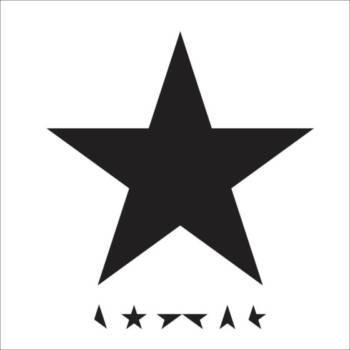 David Bowies Cover zeigt einen schwarzen Stern auf weißem Grund