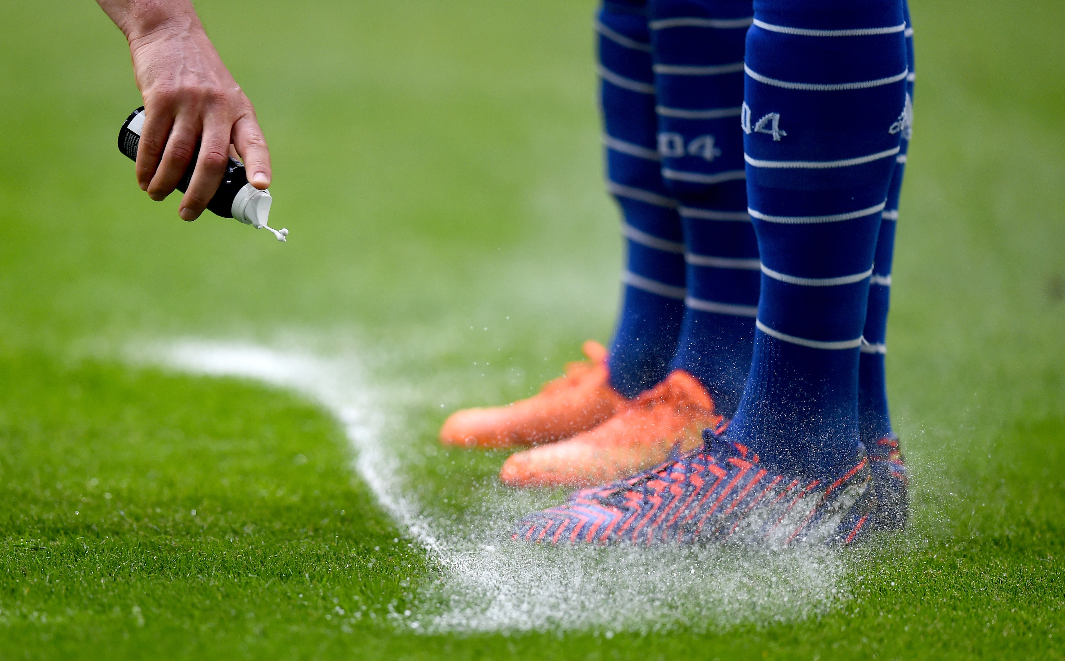 during the Bundesliga match between FC Schalke 04 and SC Paderborn at Veltins Arena on May 16, 2015 in Gelsenkirchen, Germany