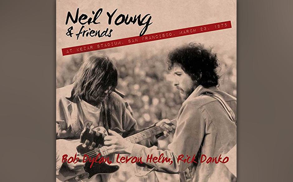 """Neil Young & Friends: """"At Kedar Stadium, San Francisco, March 23, 1975"""". Holpriger Radiomitschnitt des Gipfeltreffens von"""