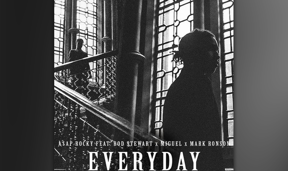 "38. A$AP Rocky feat. Rod Stewart, Miguel: ""Everyday"""