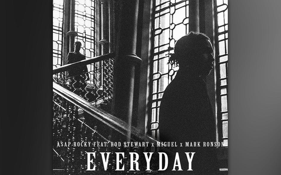 "38. A$AP Rocky feat. Rod Stewart, Miguel: ""Everyday"""