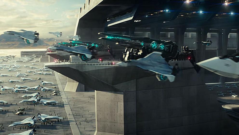 Prototypen von diesen Alien-Hybrid-Jets sind Schuld am Tod von WIll Smiths Charakter.