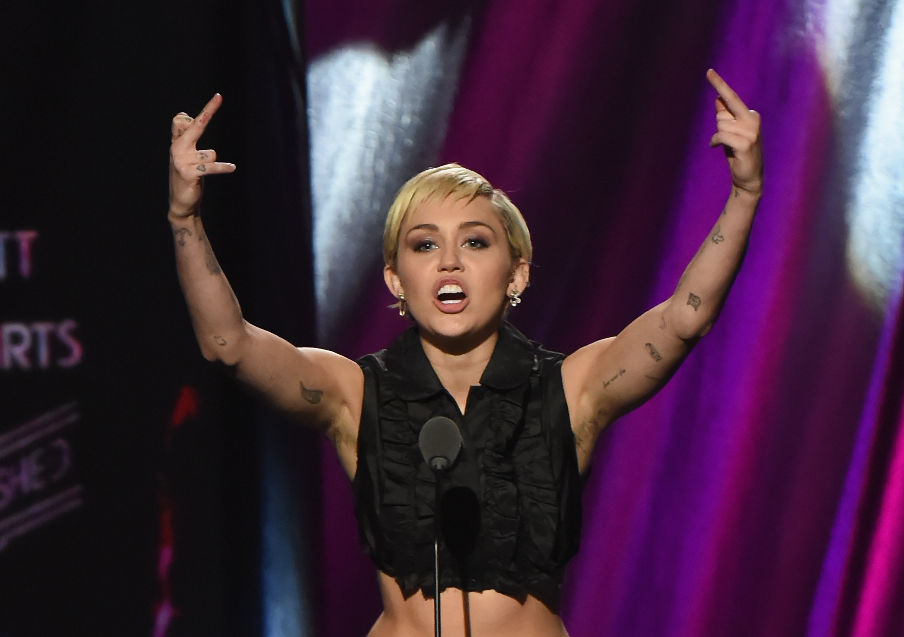 Miley Cyrus im April 2015 in Cleveland