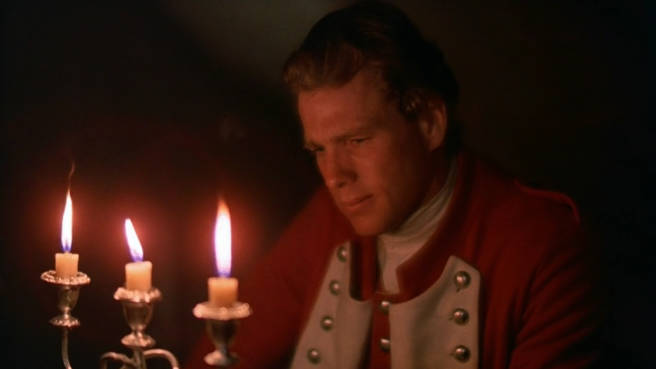 Barry Lyndon (Ryan O' Neal) bei Kerzenlicht