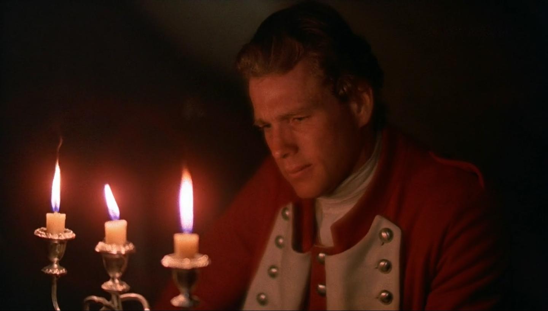 Barry Lyndon (Ryan O' Neal) bei Kerzenlicht