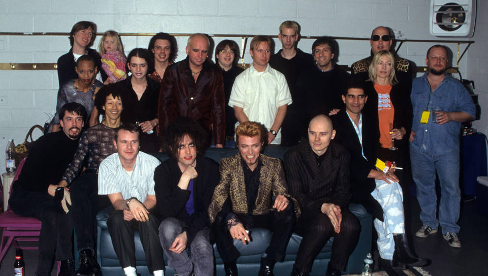 Thurston Moore, Kim Gordon, Dave Grohl, Robert Smith, David Bowie, Billy Corgan, Pat Smear, Kim Gordon and guests (Photo by K