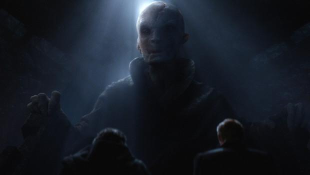 """Supreme Leader Snoke, wie er in """"Star Wars: Das Erwachen der Macht"""" zu sehen ist."""
