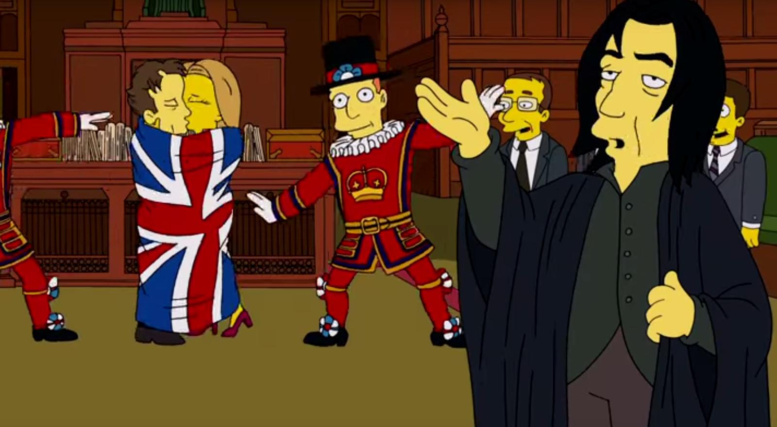 Alan Rickman als Severus Snape in einer Simpsons-Folge