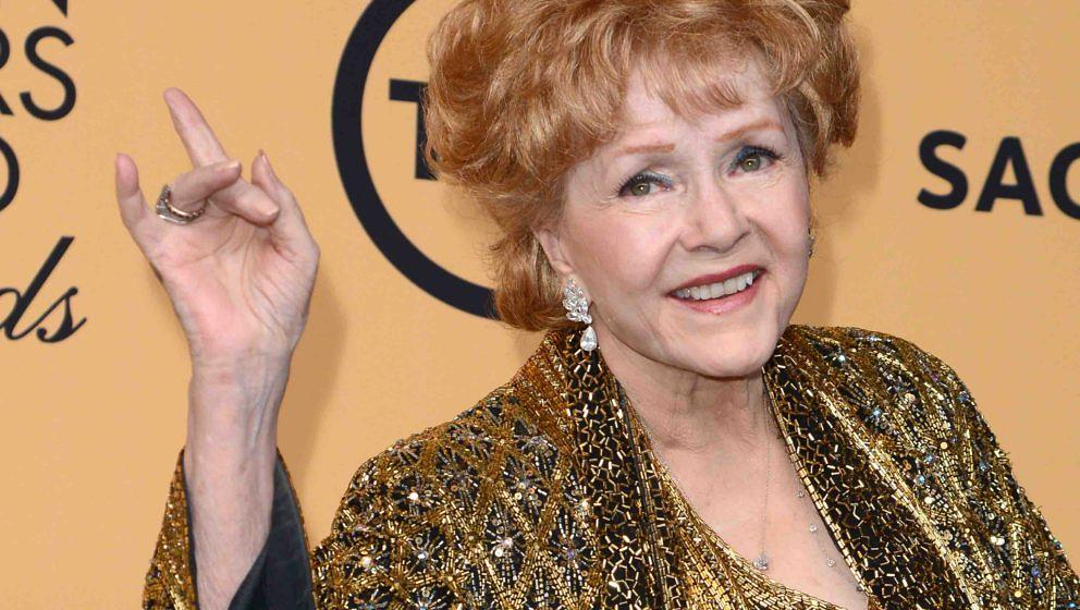 LOS ANGELES, CA - JANUARY 25:  Actress Debbie Reynolds, recipient of the Screen Actors Guild Life Achievement Award, poses in