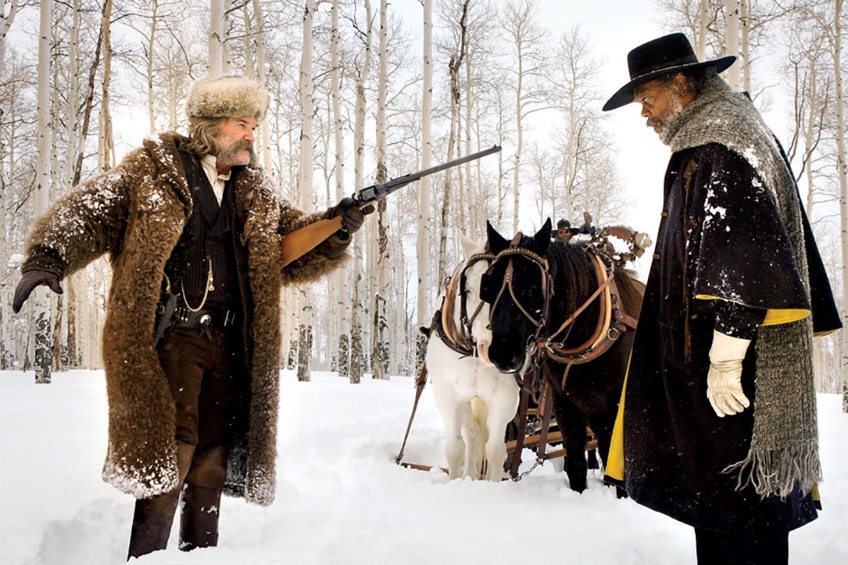 "Kurt Russel und Samuel L. Jackson in ""The Hateful Eight"""