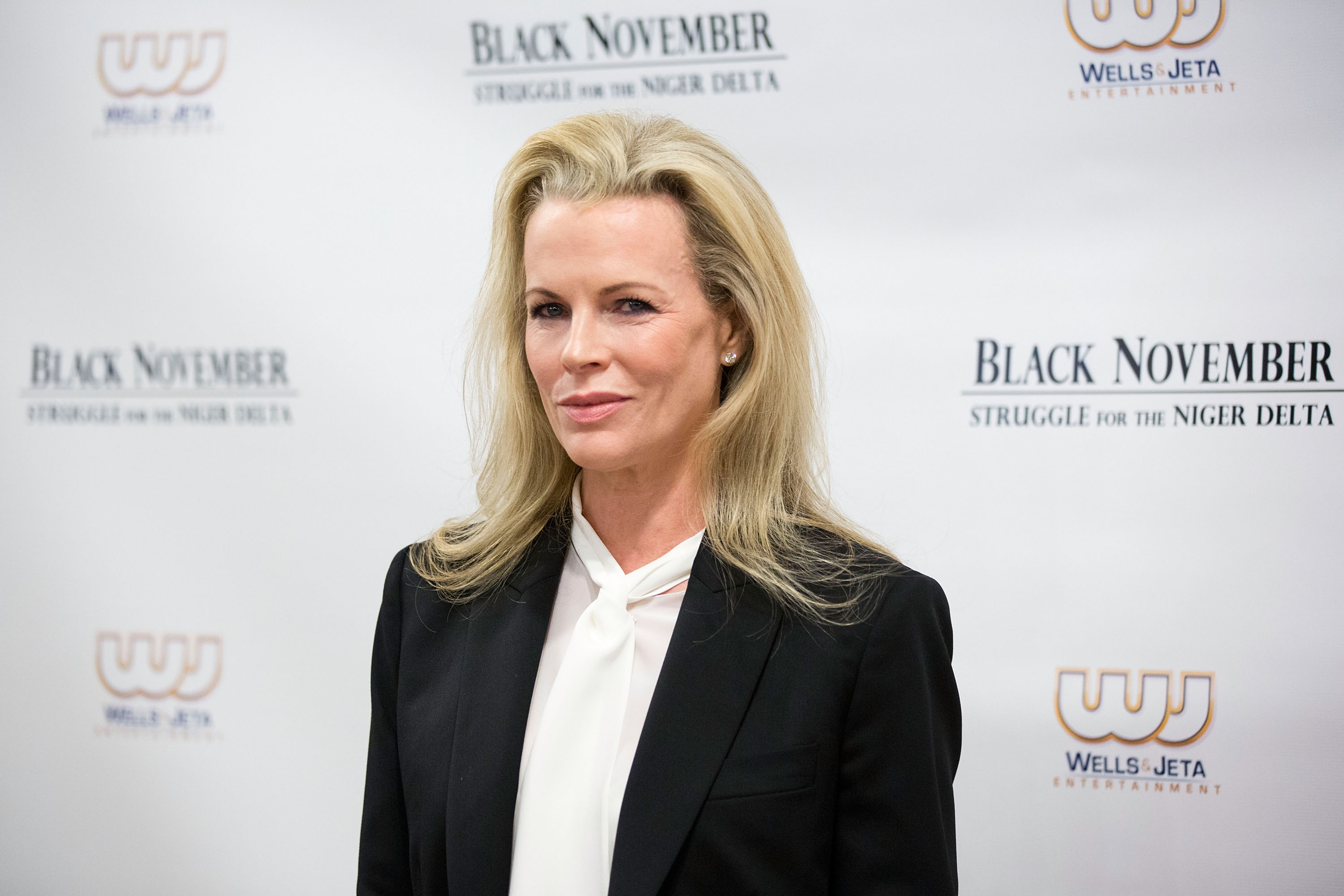 NEW YORK, NY - SEPTEMBER 26:  Kim Basinger attends the 'Black November' New York City Premiere at United Nations on September