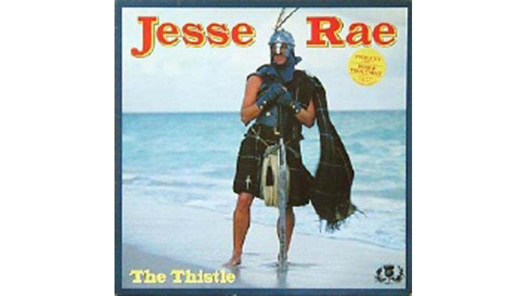 """Jesse Rae - """"The Thistle"""" (1987)  P-Funk mit Kilt, Kriegerhelm und Schottenakzent?! Klar, dass da irgendwie Roger Troutma"""