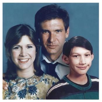 Leia, Han und Ben als glückliche Familie