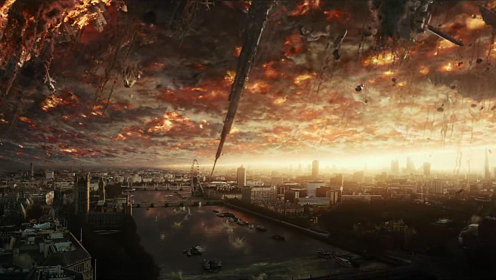 """In dieser Szene aus """"Independence Day: Resurgence"""" steht der Himmel in Flammen"""