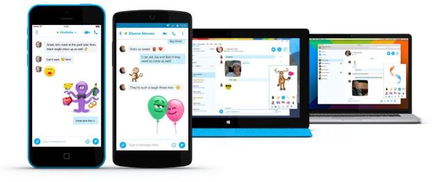 """""""Love Mojis"""" in Skype"""