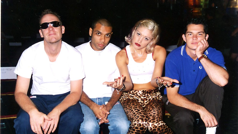 Eric Stefani, Tony Kanal, Gwen Stefani und Adrian Young bei den MTV Video Music Awards 1996