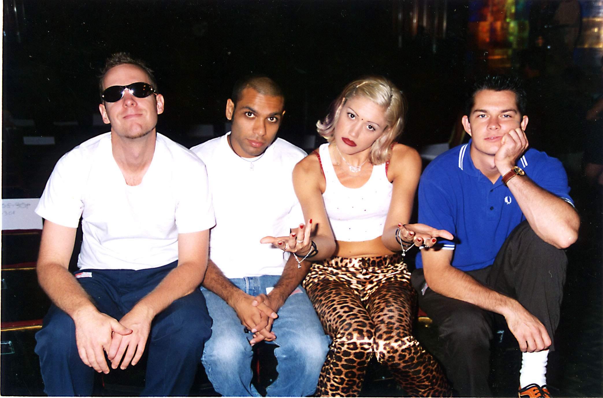 Eric Stefani, Tony Kanal, Gwen Stefani und Adrian Young bei den MTV Video Music Awards 1996