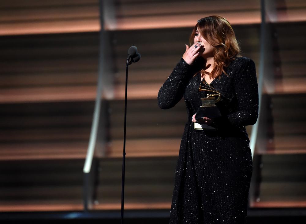 """Meghan Trainor wurde als """"Best New Artist"""" ausgezeichnet und von ihren Gefühlen überwältigt."""