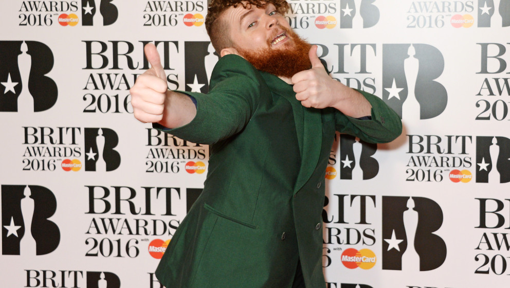 arrives the BRIT Awards 2016 at The O2 Arena on February 24, 2016 in London, England.