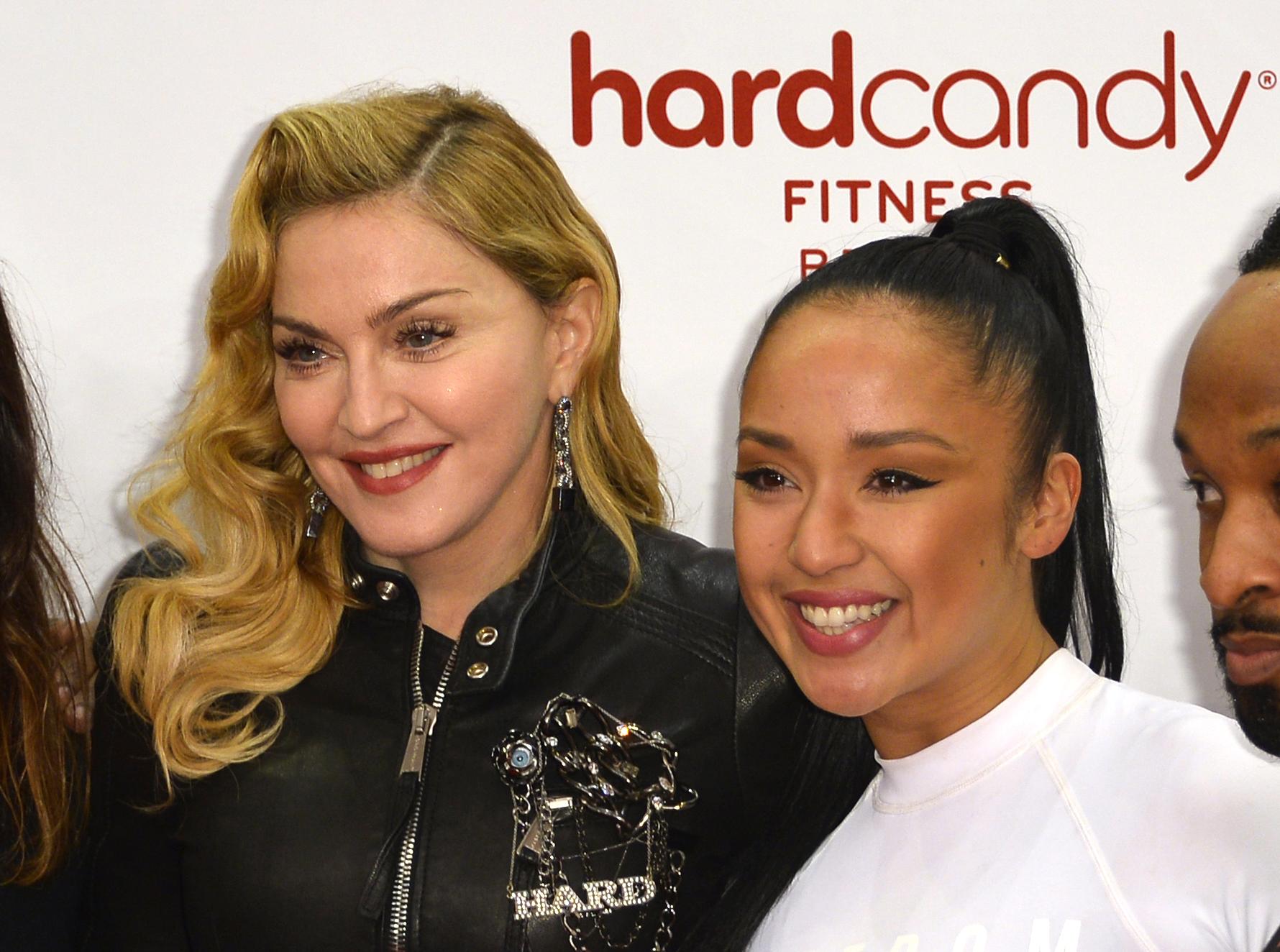 Madonna mit ihrer ehemaligen Fitnesstrainerin Nicole Winhoffer.