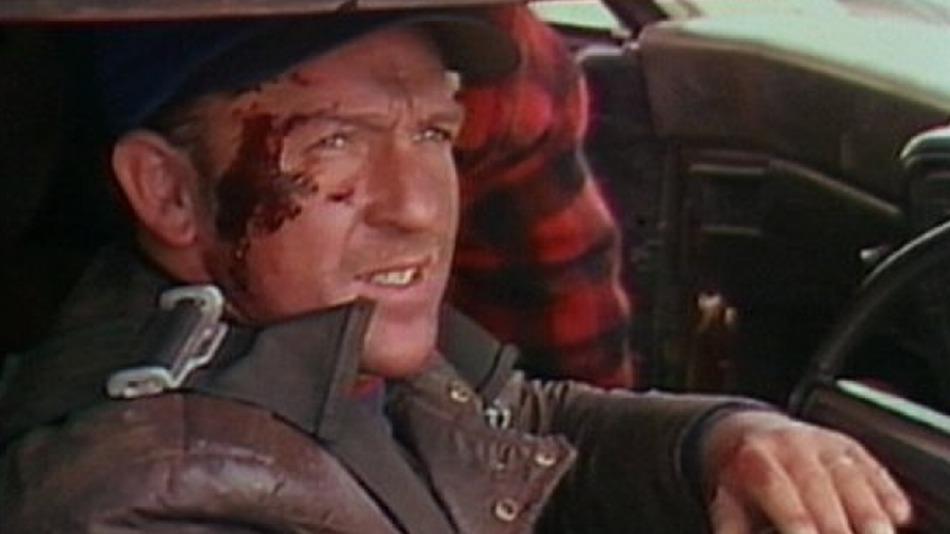 """Max Aspin bei den Dreharbeiten zu """"Mad Max 2: The Road Warrior"""""""