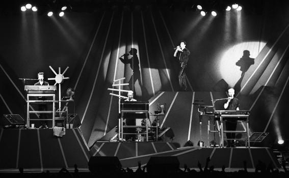 Depeche Mode live im Ahoy in Rotterdam, 1986.