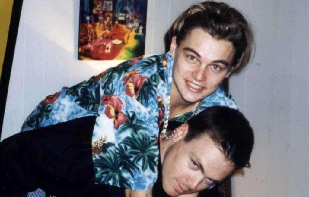 Leonardo DiCaprio mit seinem Stiefbruder Adam Farrar.