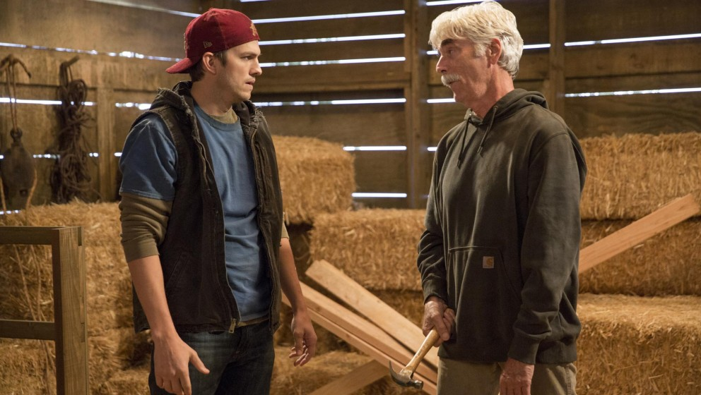 "Ashton Kutcher und Sam Elliott in der Netflix-Serie ""The Ranch"""