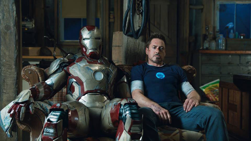 "Bedrückte Stimmung: Robert Downey Jr. als Tony Stark in ""Iron Man 3"""